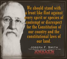 Joseph F. Smith Prophet Quotes, Gospel Quotes, Lds Quotes, Religious Quotes, Quotable Quotes, Book Of Mormon Prophets, Political Quotes, Political Ideology, General Conference Quotes