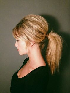 Get Inspired: '60s Brigitte Bardot inspired puffed ponytail hairstyle. #hair