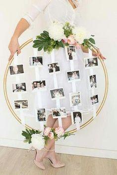 Vintage wedding decor photo frame idea - Decoration For Home Trendy Wedding, Rustic Wedding, Dream Wedding, Wedding Day, Wedding Gifts, Wedding Vintage, Wedding Simple, Wedding House, Vintage Mom