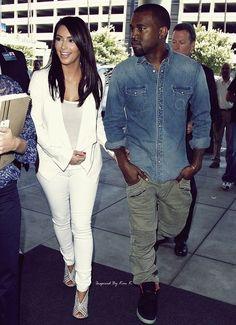 Kanye West in Olive Pants