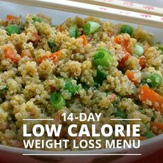 14 Day Low-Calorie Weight Loss Menu #weightloss #lowcalorie #menuplanning