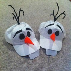 Olaf (from Disneys Frozen) Hats I made for Kaden and Sebby for the crazy hat day parade :) Idea taken from here: http://www.cutoutandkeep.net/projects/olaf-disney-bounding-outfit