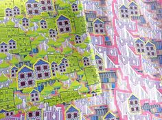 Shop for on Etsy, the place to express your creativity through the buying and selling of handmade and vintage goods. Irish Cottage, Fat Quarters, Textile Design, City Photo, Indie, Retro, Handmade Gifts, Fabric, Prints