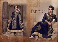 Designer New Navy Salwar Suit Anarkali Indian Party Bollywood Pakistani 1731…