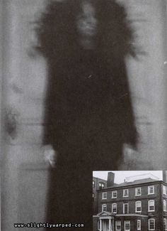 """""""ghost"""" image from the Joshua Ward house in Salem, Mass...this pic has always creeped me out"""