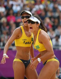 Maria Antonelli and Talita Rocha - Maria Antonelli and Talita Rocha are competing for Brazil in beach volleyball. Beach Volleyball Girls, Women Volleyball, Gymnastics Girls, Brazil Volleyball, Laura Ludwig, Hot Brazilian Women, Brazil Women, Fitness Models, Volleyball Workouts