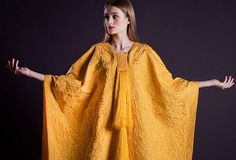Spider silk cape goes on show at V&A Artist Simon Peers and designer Nicholas Godley created cape with silk from a million Madagascar Golden Orb spiders Spider Silk, Spider Art, Madagascar, Cozy Scarf, Textiles, The V&a, Textile Artists, The Guardian, Wearable Art