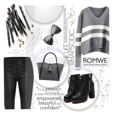 """Romwe sweater contest outfit"" by natasa-topalovic ❤ liked on Polyvore featuring Bobbi Brown Cosmetics, women's clothing, women, female, woman, misses, juniors and romwe"