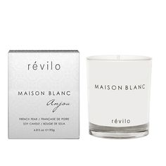 Hard to find monochrome style. hardtofind. | Maison blanc anjou french pear soy candle