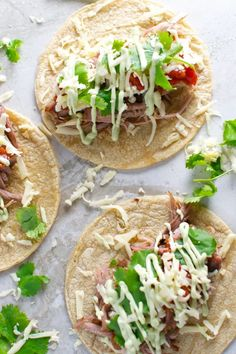 These simple pork tacos will be a weekly family favorite! #stuckonsweet #slowcooker #recipe #tacos