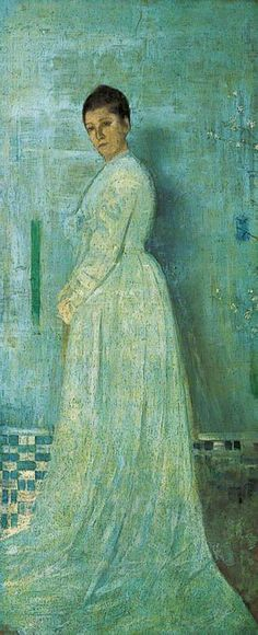 Harmony in White and Blue / James Abbott McNeill Whistler / 1860s / oil on canvas