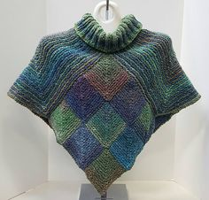 Ravelry: Noro Topper pattern by Brian smith Knitted Capelet, Gilet Crochet, Crochet Shawl, Knit Crochet, Knit Fashion, Knitting Designs, Shawls And Wraps, Crochet Clothes, Knitting Patterns