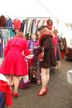 Busy shoppers at Hay Does Vintage.