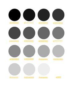Grey scale organized neatly.
