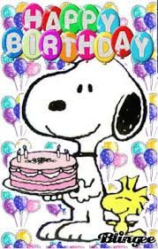 Happy Birthday GIF / Snoopy and Woodstock