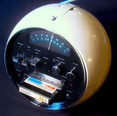 Round 8-track tape player - best friends had one in junior high. Very groovy.