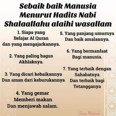 Sebaik-baik manusia #nasehatmuslim by pustakamuslim