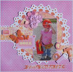 Little worker girl - Scrapbook.com