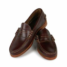 Rancourt Beefroll Penny Loafers - Made in Maine