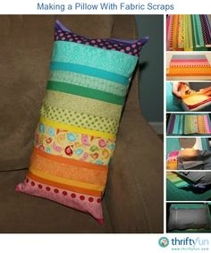 This is a guide about making a pillow with fabric scraps. Here is a pretty pillow project perfect for your stash of scrap fabric.