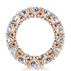 Italo Rose Gold Eternity Round Created White Sapphire Wedding Band #jewelry #jewelry #pinterest #beauty #beautiful #women #wedding #womensfashion #weddingphotography #rings