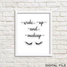 Wake Up Make Up gossip girl print gossip girl room by GrafikShop