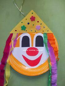 Csipke, madzag, ragasztó: farsangi dekoráció, bohócok Clowns, Paper Plates, Techno, Outdoor Decor, Home Decor, Activities, Manualidades, Children, School Routines
