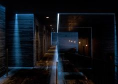 Peter Zumthor's Therme Vals spa photographed by Fernando Guerra Architecture Photo, Sustainable Architecture, Amazing Architecture, Modern Architecture, Building Architecture, Ancient Architecture, John Pawson, Carlo Scarpa, Thermal Vals
