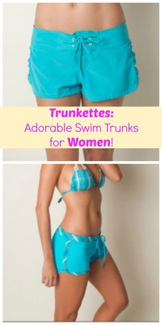 These Trunkettes are cute and super functional for active moms hitting the pool with kids!