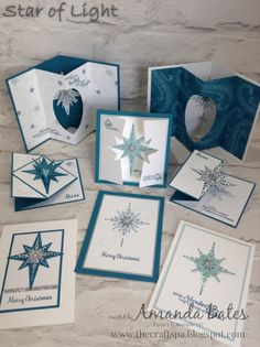 The Craft Spa - Stampin' Up! UK independent demonstrator : Star Light Last Card & Group Shot