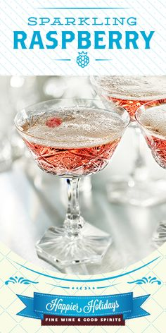 Sparkling Raspberry 3 oz Barefoot Bubbly Prosecco ½ oz St-Germain Elderflower Liqueur 2 Tbsp raspberry purée 1 fresh raspberry Chill all ingredients and combine the first three in a cocktail glass; Drop fresh raspberry into the glass. New Year's Eve Cocktails, Classic Cocktails, Holiday Cocktails, Good Spirits, Wine And Spirits, Cocktail Glass, Cocktail Drinks, Barefoot Bubbly, Elderflower
