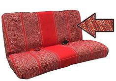 RED-Bench-Saddle-Blanket-Beige-Seat-Cover-for-Truck-SUV-Van-Full-Bench-Size
