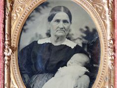 Antique Ambrotype Mother Child Post Mortem by AveryandAllen, $48.00