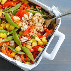 "Lightened-Up Sweet-and-Sour Chicken ""Stir-Fry"" Casserole"