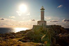 Faro de Punta Nariga. Malpica. (A Coruña). Galicia. Spain. Uno de los faros más bonitos de España.