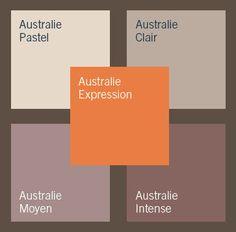 Palette Australie : l'accord des couleurs taupe et orange - Peinture : 9 palettes de couleurs qui invitent au voyage - CôtéMaison.fr