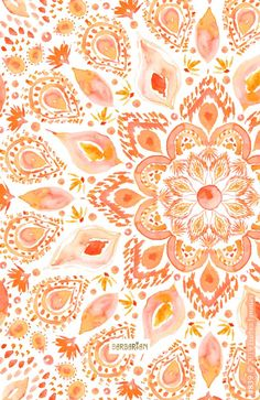I didn& intend for this mandala to feel super womanly but I guess I can& help it. I& a woman. Fleshy and feely and open to new possibilities. I believe the future HAS to be female if we are to survive as a species. Watercolor Mandala, Coral Watercolor, Watercolor Wallpaper, Watercolor Pattern, Watercolour, Cute Wallpapers, Wallpaper Backgrounds, Iphone Wallpaper, Backgrounds Free
