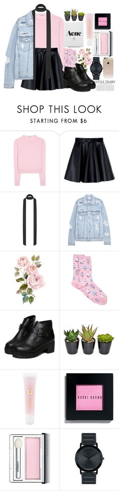 """""I can't leave you, I'm chained up..."" [ VIXX ]"" by sahra101 ❤ liked on Polyvore featuring Miu Miu, MSGM, SJYP, HOT SOX, WithChic, Lancôme, Bobbi Brown Cosmetics, Clinique, Movado and Incase"