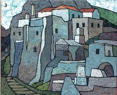 Kythira, George Sikeliotis. Modern Art, Contemporary Art, Greek Paintings, Mediterranean Art, Greece Map, Greek Art, 10 Picture, Color Of Life, Watercolor And Ink