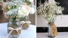 bocal verre vintage bouquet