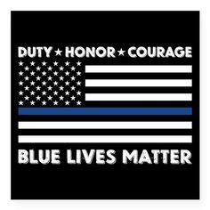 BLUE LIVES MATTER DECAL Sticker on CafePress.com