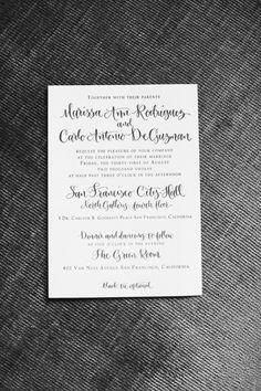 Invitation idea, font