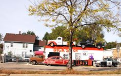 """"""" Dick's Towing """" in Joliet Illinois  """" Route 66 on My Mind """" http://route66jp.info Route 66 blog ; http://2441.blog54.fc2.com https://www.facebook.com/groups/529713950495809/"""