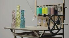 FACETURE machine and vases