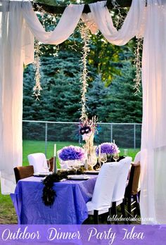 Outside Dinner Party Idea