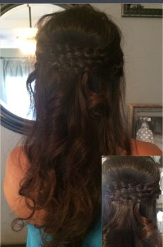Love my hair   Wedding Hair  Bump  Braids Baby Curls