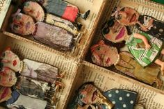Julie Arkell is an English artist that works with papier-mache and mixed media. She creates this magical creatures and dolls. Paper Dolls, Art Dolls, Arts And Crafts, Paper Crafts, Art Textile, Paperclay, Little Doll, Assemblage Art, Art Plastique