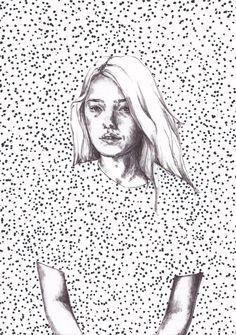 Terese B. Larsen @tereseblarsen Sketch Inspiration, Illustration Girl, Pictures To Draw, Word Art, Illustrations Posters, Art Inspo, Art Projects, Art Drawings, Artsy