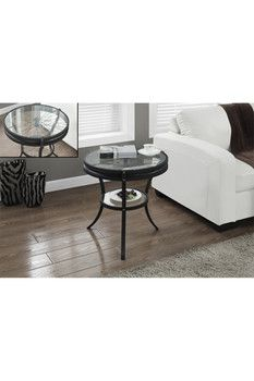 Black Hammered Tempered Glass Accent Table Cabinet Furniture, Kitchen  Furniture, Table Furniture, Living