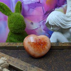 Carnelian Heart Carnelian Puffy Heart Crystals Bright Crystals Gift Ideas Orange crystals Carnelian, Crystals And Gemstones, Bright, Heart, Creative, Hearts